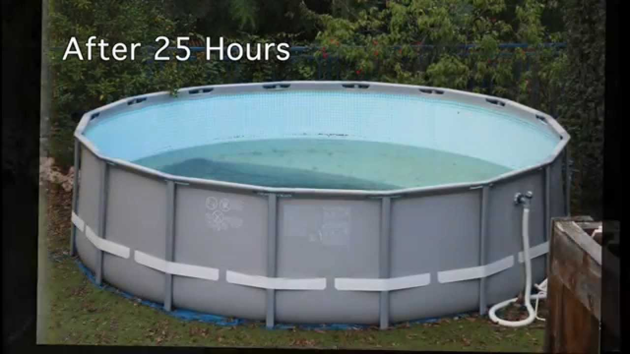 Draining An Ultra Metal Frame Intex Pool How Long Does