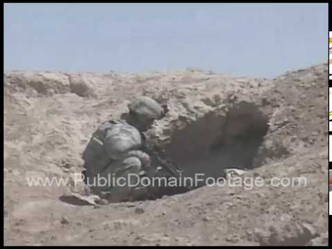 Route clearing mission - Iraq War archival footage