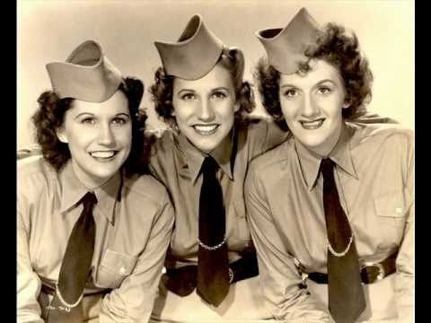 The Andrews Sisters - Boogie Woogie Bugle Boy (lyrics in description)