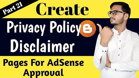 How To Create Privacy Policy and Disclaimer Page For Blogger