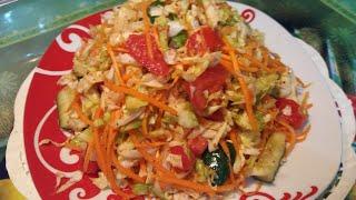 Салат из капусты - по корейски