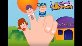 FAMILIA DE DEDOS - Cantando con Adriana - canciones infantiles