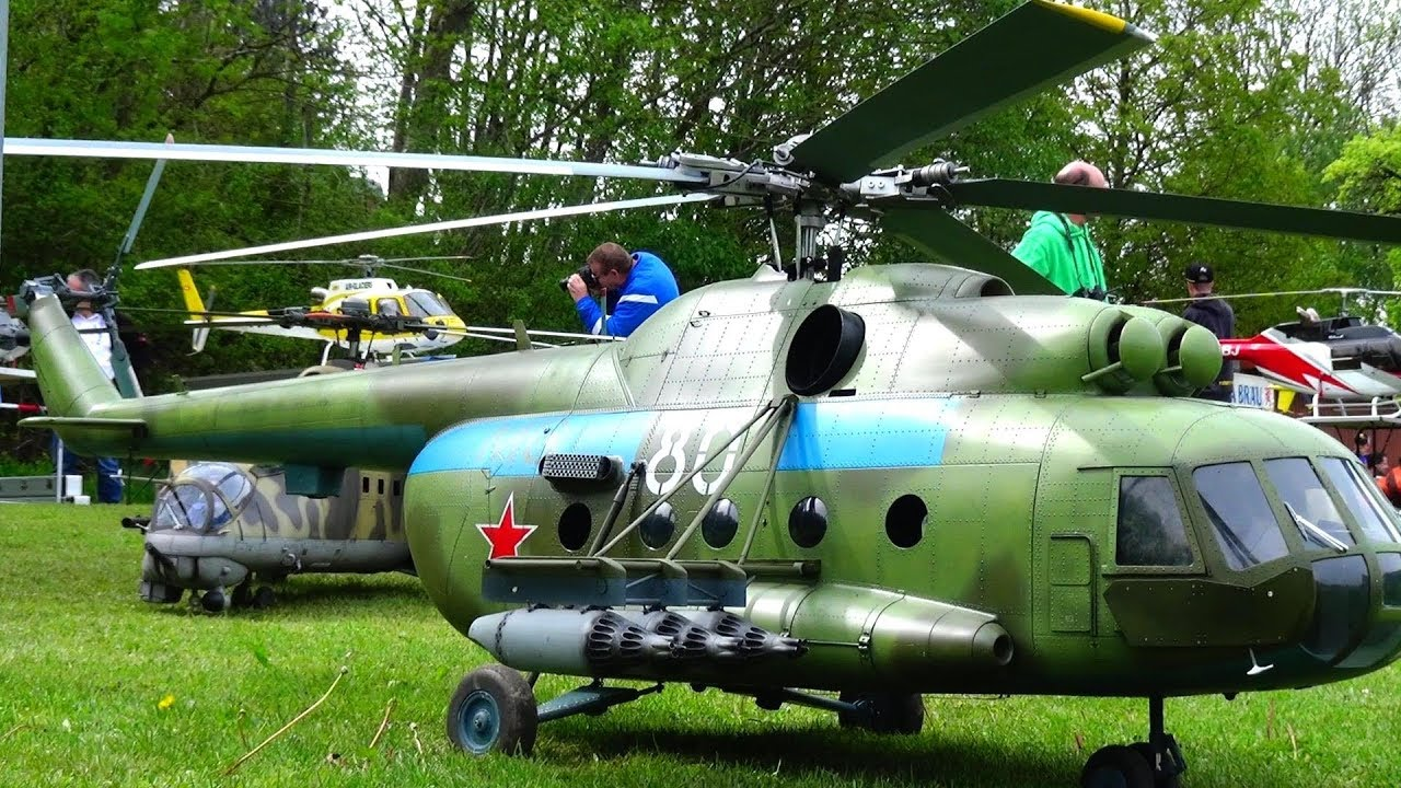 Large Mil Mi-8 RC Electric Scale Helicopter included Benedini Soundmodul