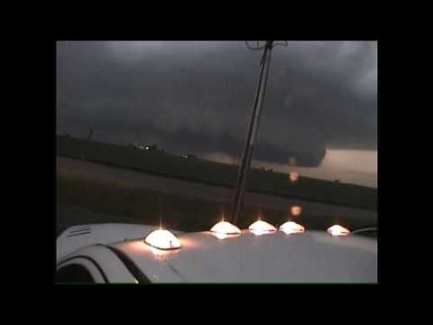 Wall cloud and tornado La salle Il 6/22/2016