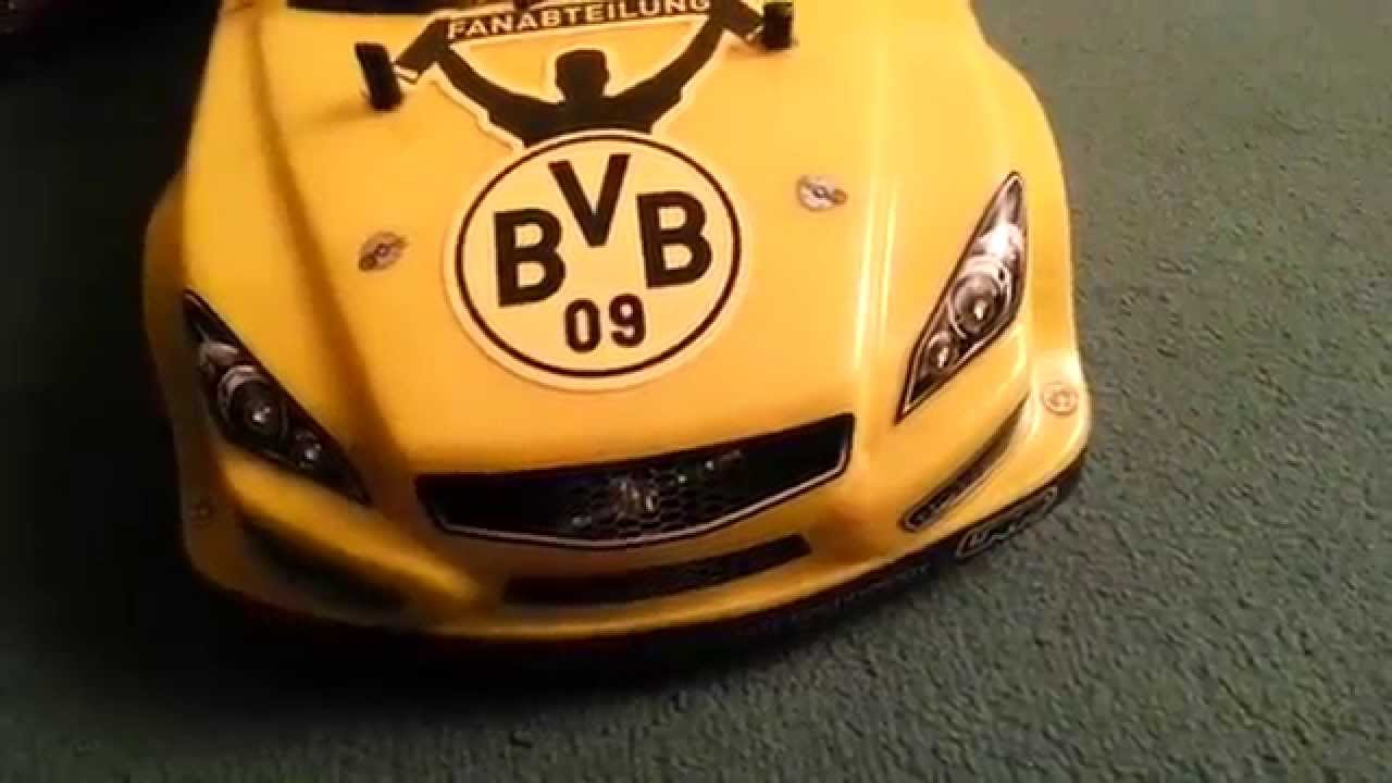 echte liebe bvb 09 volvo c30 als borussia dortmund rc fan car youtube. Black Bedroom Furniture Sets. Home Design Ideas