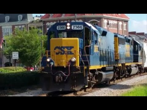 [CSXT]2366 EMD ROAD SLUG & 6966 EMD GP40-2 Leads F736-18 W/Loud & Quilling 1st Gen K5LA In F.NC