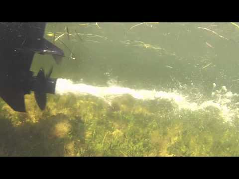 GoPro Under Water OutBoard Motor In Action Propeller