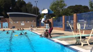 Zay Zay Jumping Off The Diving Board