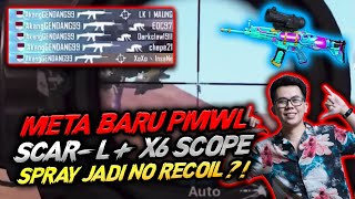 META BARU PMWL SCAR - L + SCOPE X6 SPRAYDOWN JADI NO RECOIL ?!! - PUBG MOBILE INDONESIA