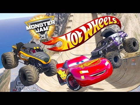 HOT WHEELS MONSTER JAM MEGA JUMP CHALLENGE (Cars 3 Challenge)