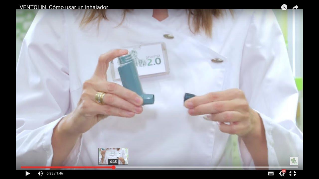 VENTOLIN. Cómo usar un inhalador - YouTube c6796ff8e3c8