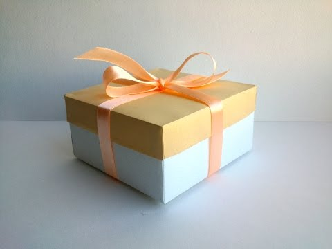 Paper Gift Box with Cover - Simple box for a gift - Easy Paper Box - Birthday Gift Ideas