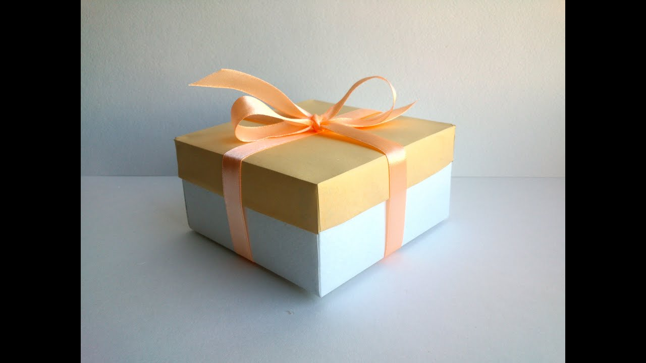 Paper Gift Box with Cover Simple box for a gift Easy Paper Box