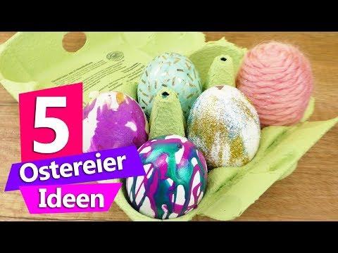 5 Ostereier Ideen mit Sachen, die jeder zuhause hat   Ostereier färben Super einfach