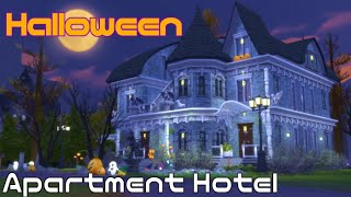 【CC Free】ハロウィン👻 Apartment Hotel【シムズ4 建築】【The Sims 4 Build】