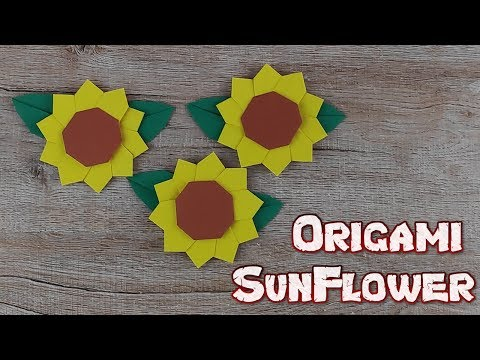 Origami Sunflower | How To Make A Paper Flower Tutorial (sunflower) | DIY Paper Crafts Idea