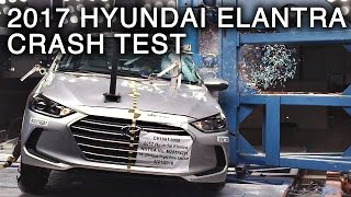2017 Hyundai Elantra Side Pole Crash Test