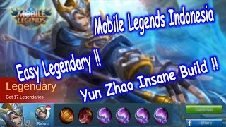 Mobile Legends Indonesia Yun Zhao Build Gameplay Insane Build