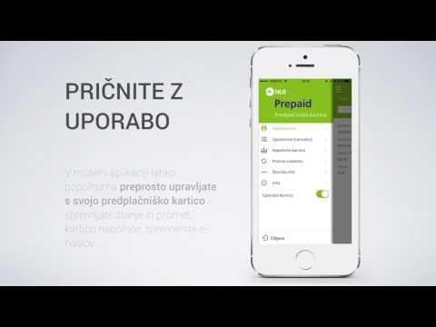 NLB Predplačniška kartica Mastercard - mobilna aplikacija