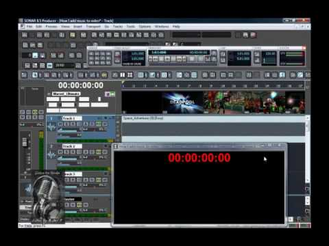 Working with Video Using Cakewalk Sonar 8.5.3