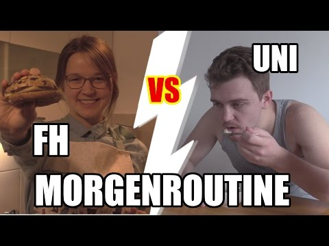 Uni VS FH: Die Morgenroutine