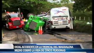 Fatal accidente en la troncal del Magdalena Medio cobró la vida de 5 Personas