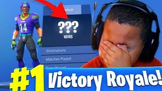 *EXPOSING* My Little Brother's STATS!! YOU WONT BELIEVE HOW MANY WINS HE GOT! FORTNITE BATTLE ROYALE