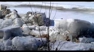 Красноярский край. Река Кан. Ледоход 2018 год апрель.