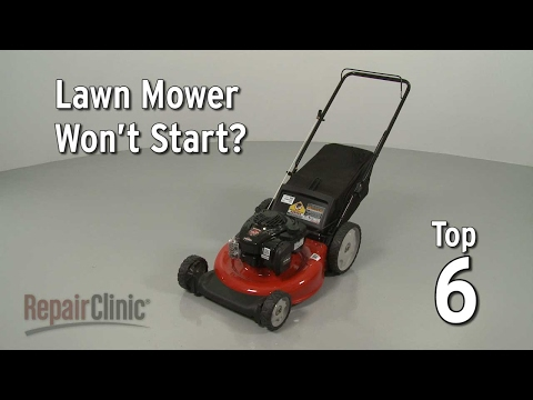 "Thumbnail for video ""Lawn Mower Won't Start? Lawn Mower Troubleshooting"""