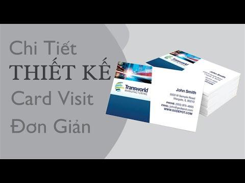 Chi Tiết Thiết Kế Card Visit Đơn Giản l 3Đô Official