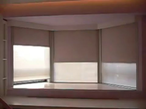 6 motorized roller blinds install in a bay window with for How to install motorized blinds