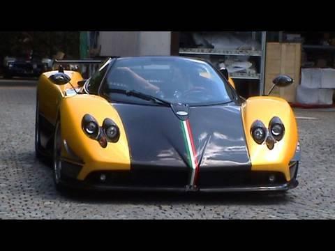 Yellow Pagani Zonda Cinque Roadster Youtube