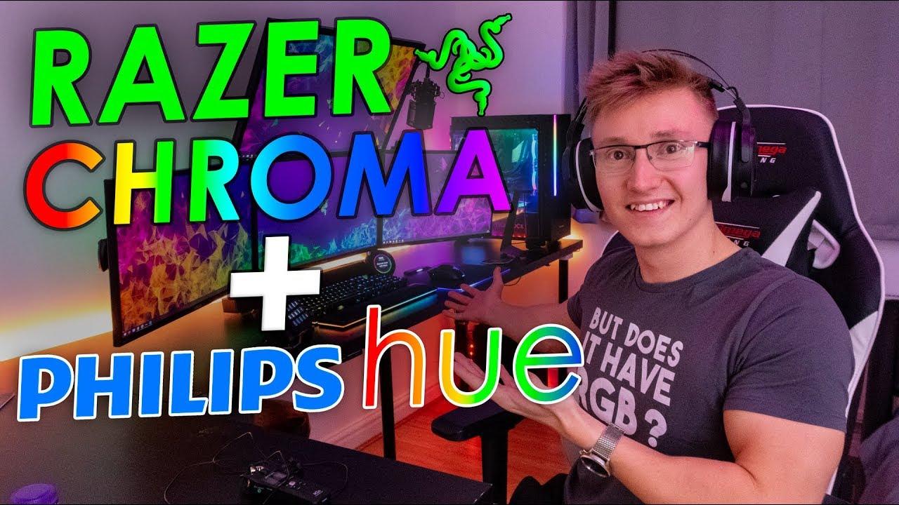 Razer Chroma + Philips Hue   It Works With Fortnite!!!