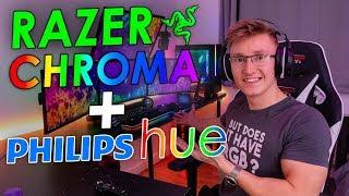 Razer Chroma + Philips Hue | It Works With Fortnite!!!