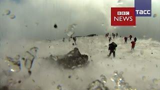 Съемочная группа Би би си спаслась от извержения Этны
