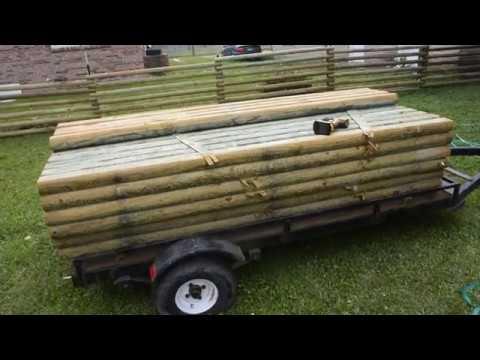 DIY Landscape timber fence