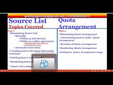Source list & Quota Arrangement