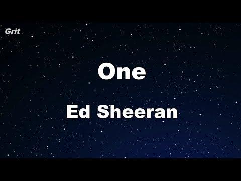One - Ed Sheeran Karaoke 【No Guide Melody】 Instrumental