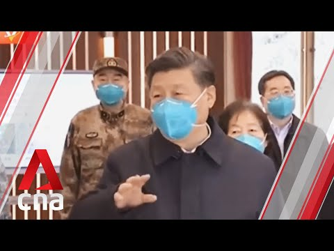 Chinese President Xi Jinping Visits COVID-19 Hospital In Wuhan