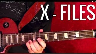 THE X FILES  Theme ( aka LUMINAUGHTY CONFIRMED ) - Guitar Lesson