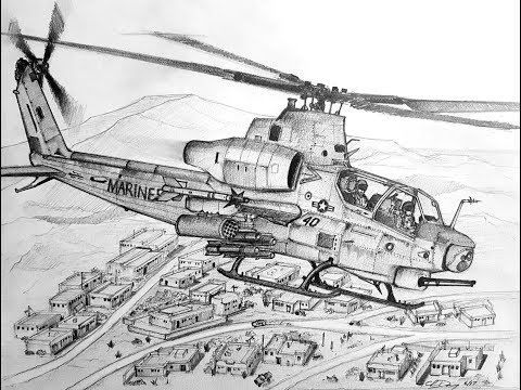 How to Draw a AH-1Z Viper