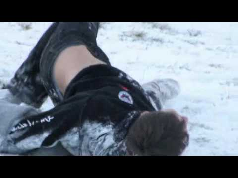 Sledgeing in the Snow at Llantwit Major