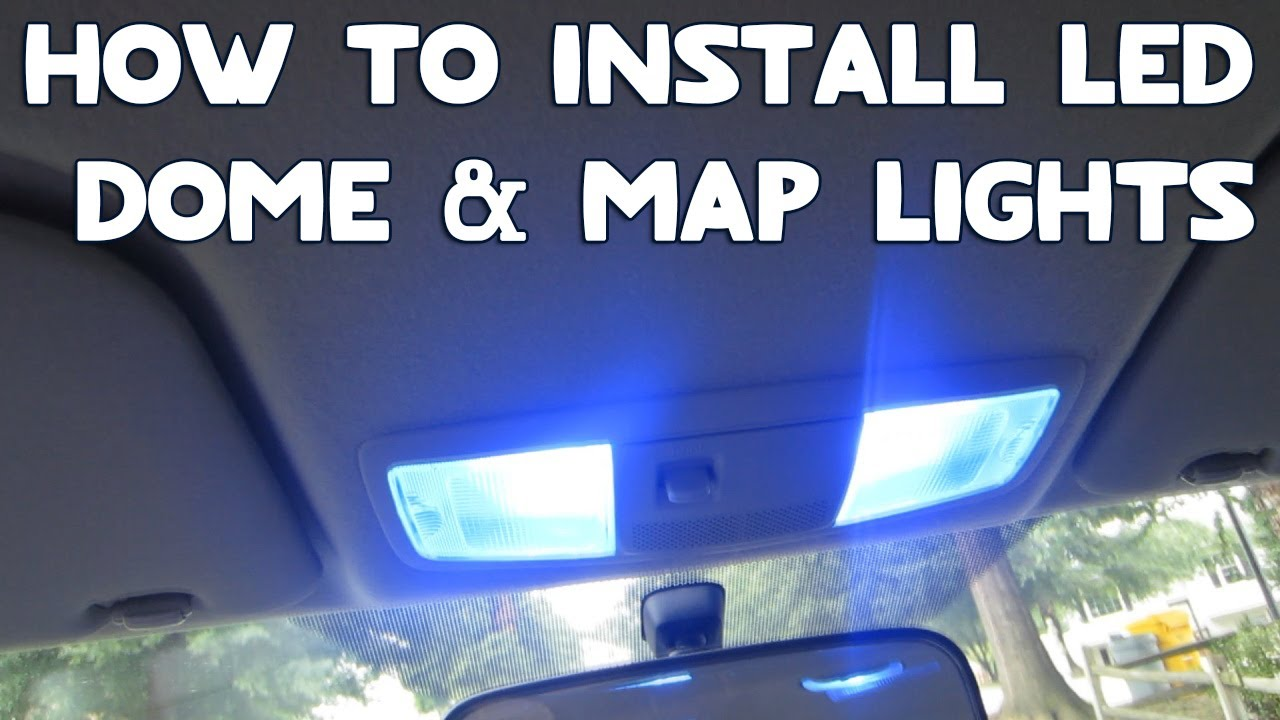 how to install led dome map lights in your car youtube. Black Bedroom Furniture Sets. Home Design Ideas