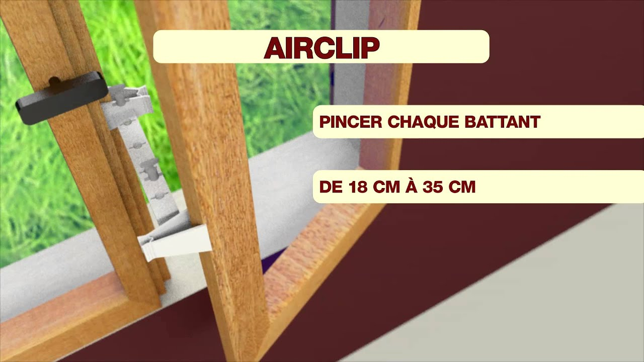 airclip entrebailleur de fen tre youtube. Black Bedroom Furniture Sets. Home Design Ideas