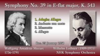 Mozart: Symphony No. 39, Loibner & NHKso (1958) モーツァルト 交響曲第39番 ロイブナー