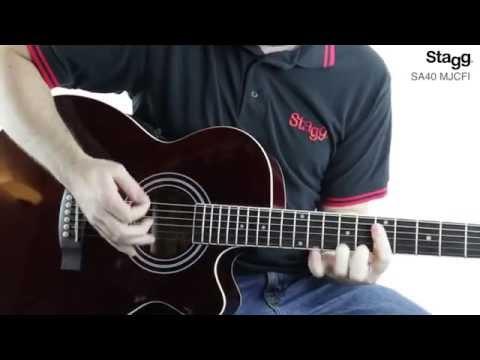 Stagg SA40MJCFI Mini Jumbo Electro Acoustic Guitar