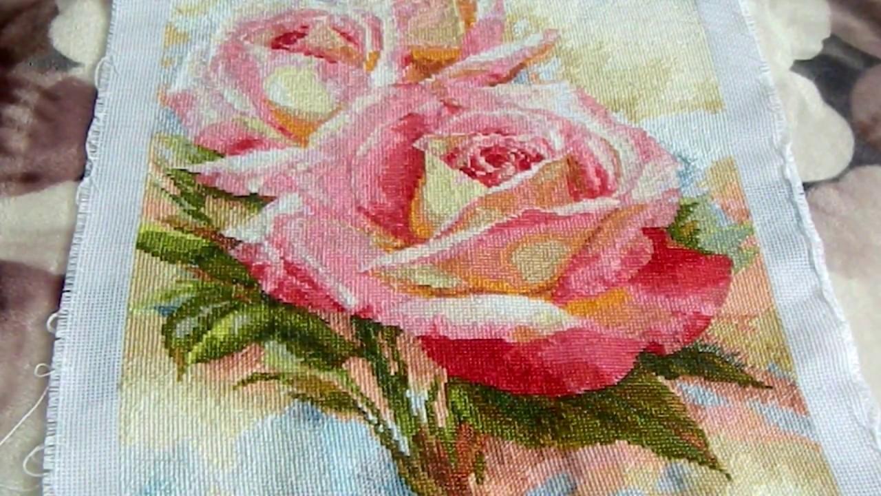 Вышивка крестиком. Завершенная работа Розовые мечты