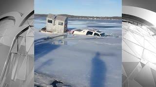 Wisconsin man drives truck onto frozen Lake Michigan, falls in