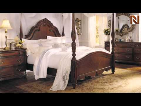 Great Romance Collection Palais Poster Bed Set   American Drew, Jessica  McClintock Collection 721 375R SET