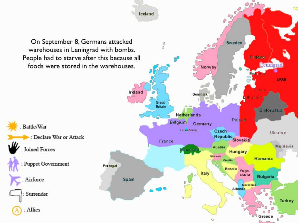 Key Events of World War II on the European Theatre. - YouTube